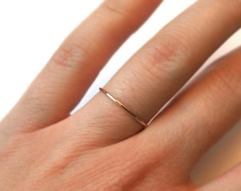 Fine delicate ring made of 585 gold filled Rose Gold brass rose gold