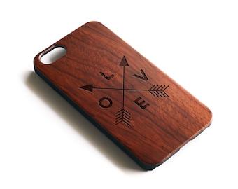 Iphone 6 Case Wood, Love Iphone 6 Case, Rosewood Case