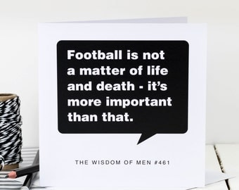 Birthday Card For Men; Sports Card; Sport Mad Men Card; Card For Dads; Card For Sons; Card For Him;