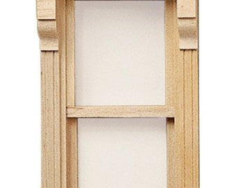 DOLLHOUSE MINIATURES 1:24 Scale Stationary Victorian Window #HWH5042