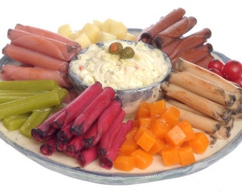 DOLLHOUSE MINIATURE Assorted Meat Potato Salad #JU1162