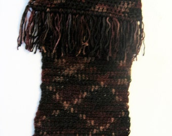 "6""x64"" Extra Long Handmade Scarf with Fringed Ends"