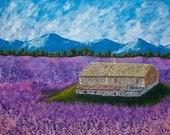 "Lavender Farm (ORIGINAL ACRYLIC PAINTING) 16"" x 20"" by Mike Kraus"