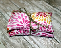 Scented Rice Hand Warmers / Coolers - Bright Pink Flower Burst