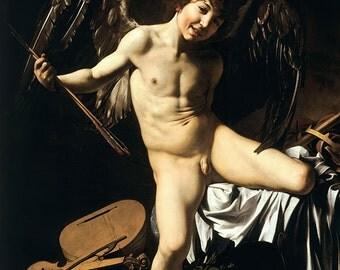 Caravaggio: Amor Vincit Omnia. Fine Art Print/Poster. (002090)