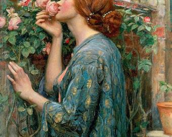 John William Waterhouse: The Soul of the Rose. Fine Art Print/Poster. (003582)