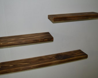 Wooden shelves - Set of 3 Floating Shelf