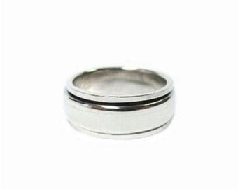 RP078 Sterling Silver Spinning Ring ,Weight 8.25 g.