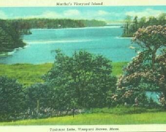 POSTCARD: Martha's Vineland Island Tashmoo Lake, Vineyard Haven, Martha's Vineyard Island, Mass.
