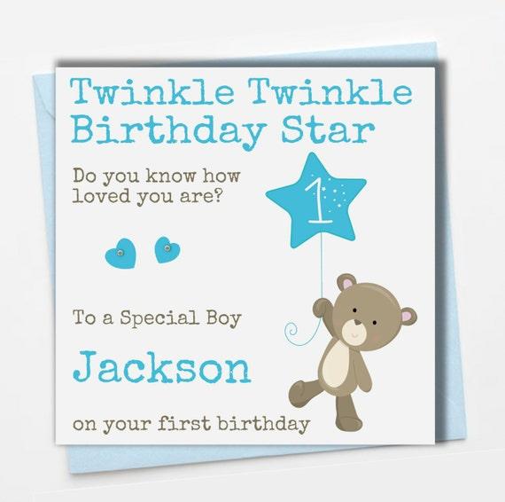 Personalised Boys Birthday Card Son Grandson Nephew Godson