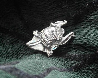 Pipistrelle Bat Badge, Brooch, Pewter
