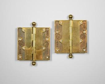 Antique Brass Hinges, Chantrell Tool Co Victorian Hardware, Restoration Hardware Door Hinges, Antique Hardware Butt Hinges, Victorian Decor