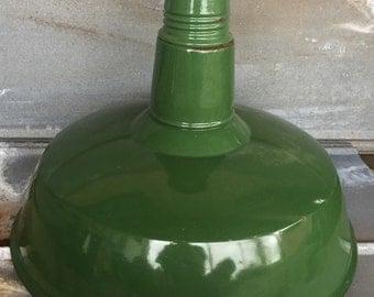 """Green Porcelain Barn Pendant Light - 20""""  Industrial Pendant Light - Large Porcelain Barn Pendant Light"""
