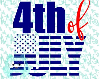 Cricut SVG - 4th Of July SVG - American Flag - Cutting Files - Happy July 4th - Independence Day - Tshirt - Silhouette - Summer Shirt
