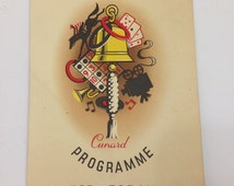 R.M.S Queen Elizabeth Cunard Line cruise ship programme from Sept 13th 1958