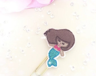 Brown Hair Mermaid Paperclip...