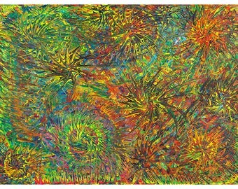 Rain Forest. Abstract Art. Abstract Paintings. Modern Art. Abstract Print. Original Art. Jacqui Jarosy.