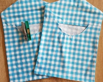 Clothes Peg Bags: Blue