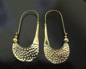 Brass Earrings, Brass Tribal Earrings, Tribal Earrings , Earrings, belly dance