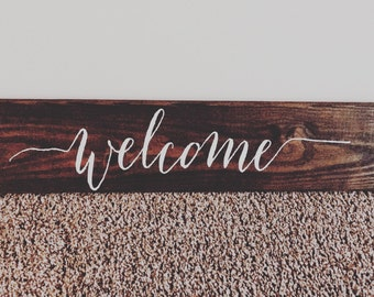 Welcome wood sign // Rustic welcome sign