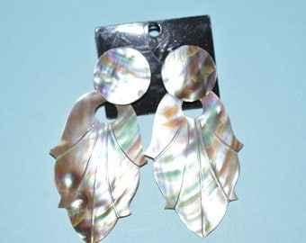 Beautiful Vintage Abalone shell earrings (1017368)