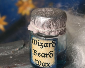RESERVED Wizard, Beard, Wax, Smooth, Beard, Mens, Grooming, Dollhouse, Miniature, Study, Dumbledore, Harry, Potter, Dollhouse, Miniature