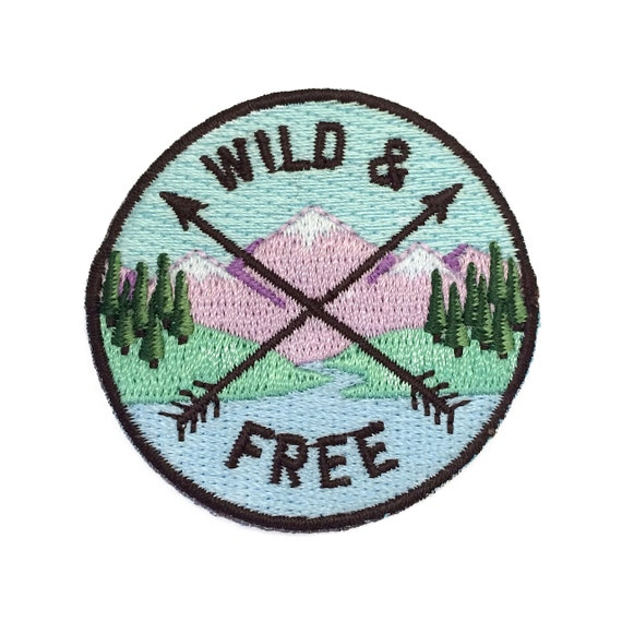 Wild U0026 Free Iron On Patch Embroidered Applique Camp