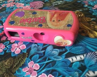 Hot neon pink Barbie camera