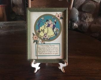 Great Old Vintage Framed Print Of The Poem Mother Mine