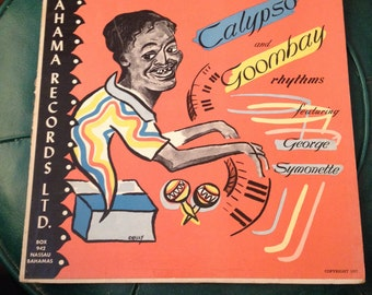 Vintage Record Album 1957 Calypso And Goombay Rhythms Featuring George Symonette