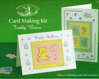 Teddy Bears, CARD MAKING KIT, Brand New