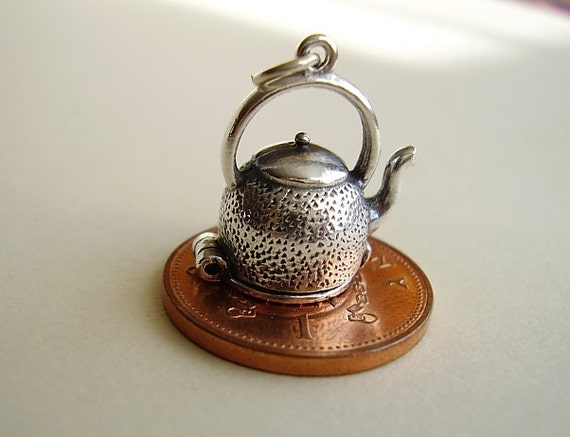 Sterling silver kettle of fish opening charms for Kettle of fish