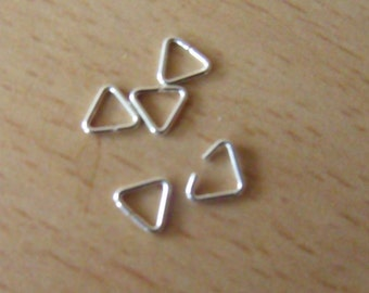 8 x 8 x 8 mm 925 SOLID STERLING SILVER Triangles for Jewellery Making/Repairs