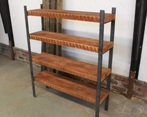 Reclaimed Wood and Steel Shelving