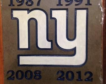 New York Giants WinningSuper Bowl Years Garden Stone