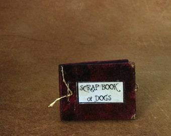 Miniature Scrap Book of Dogs dollhouse photo album