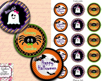 Halloween Bottle Cap Images. 1 Inch Digital Cupcake Topper. Hair Bow Center. Resin Pendant Supply. Halloween Craft. Happy Halloween DIY 164