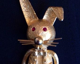 Dapper Rabbit Brooch / Pin