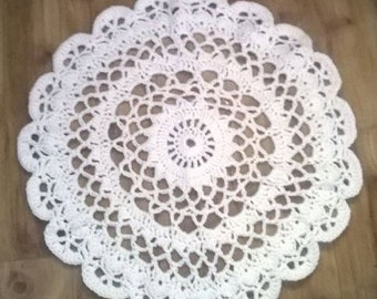 Crochet Doily Rug, Newborn photography prop *Made to order*