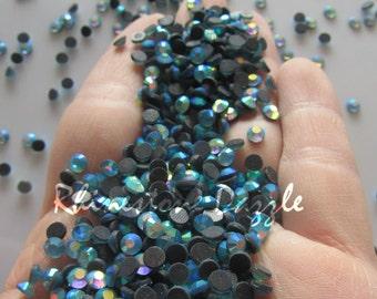 5000pcs Rhinestone Wholesale, ss16 Aqua Aurora Borealis Crystal Hotfix Rhinestones, 4mm Hotfix Aqua AB Crystal Rhinestones, Bulk Rhinestones