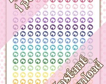 Printable Horse Head Bright Planner Icon Stickers - Equestrian - Horseback Riding