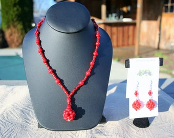 Christmas necklace and earring set