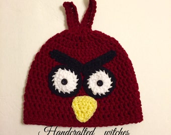 Crochet Angry Bird Hat for toddlers