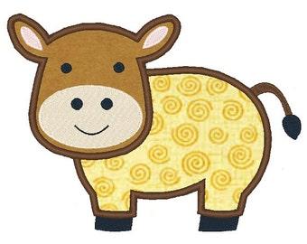 Cow Applique Machine Embroidery Design 102014 Cow Design 4X4 5X7 6X10 Instant download