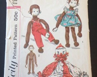 Vintage Simplicity Sock Monkey & Clown pattern