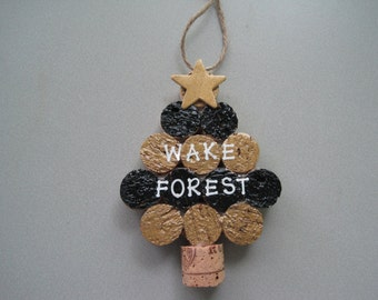 Wake Forest Colors Cork Ornaments