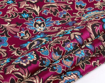 Purple brocade. Patchwork  Fabric. Multi color brocade. Chinese Brocade