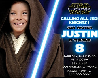 Star Wars Birthday Invitation, The Force Awakens Digital Invitations
