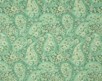 Sea Foam Green Paisley FABRIC | Jakarta Paisley Sea Foam | Fat Quarter - 100% Cotton Quilting Fabric