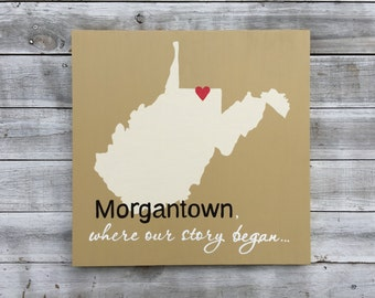 Rustic Wood State Sign, Home is Where Your Story Begins Wall Wood Art